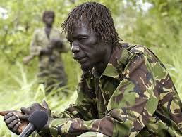 In his bush war days, Acellam was revered as the best intelligence officer of the LRA. In this photo he talks to the media during the failed peace talks. He later fell  out with kony over his stand on the execution of Vicent Otti